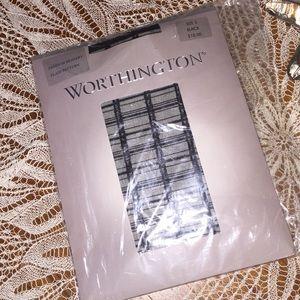 Worthington Fashion Hosiery Sz 3 Plaid FREE W/Purc